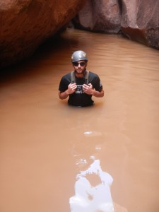 They all dealt with a water filled canyon, here is David